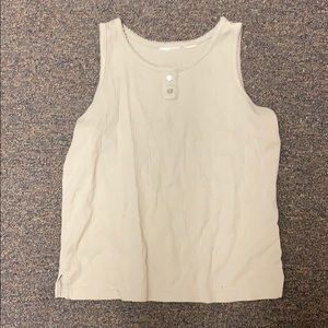 Tops - Tan/nude tank top (button up)